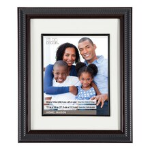 "Walnut Ribbed Frame With Mat, Portrait Collection By Studio Décor, 8"" x 10"""