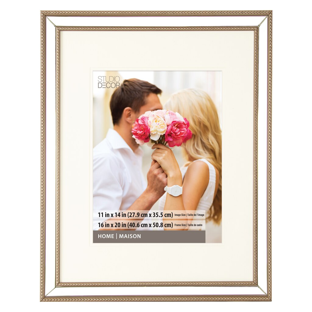 Mirrored Portrait Frame with Mat by Studio Décor®
