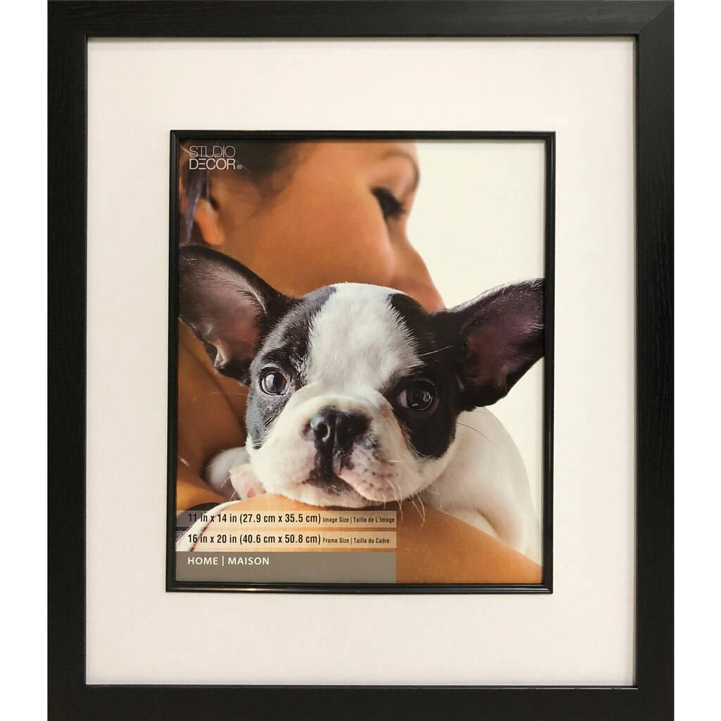 Black Studio Frame With Mat, Home Collection By Studio Décor®