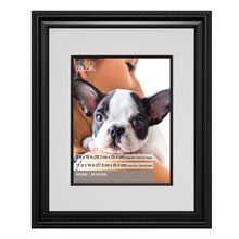 "Black Rope Frame With Mat, Portrait Collection By Studio Décor, 8"" x 10"""