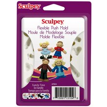 Sculpey Flexible Push Mold, Family Time