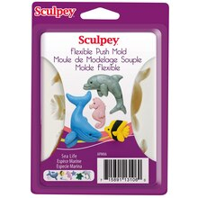 Sculpey Flexible Push Mold, Sea Life