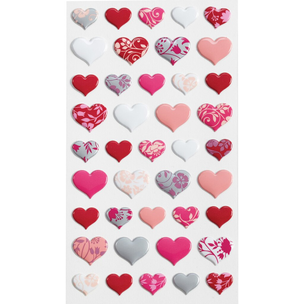 Sticko Lovely Hearts Puffy Stickers