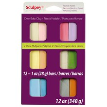 Sculpey III Oven Bake Clay, Pastel Color Multipack, Packaged