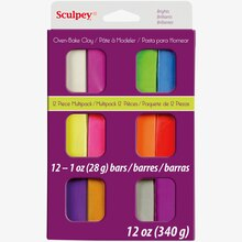 Sculpey III Oven Bake Clay, Bright Multipack, Packaged
