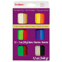 Sculpey III Oven Bake Clay, Classic Multipack, Packaged