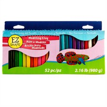 EZ Shape Modeling Clay, 52-piece Set