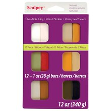 Sculpey III Oven Bake Clay, Natural Color Multipack, Packaged