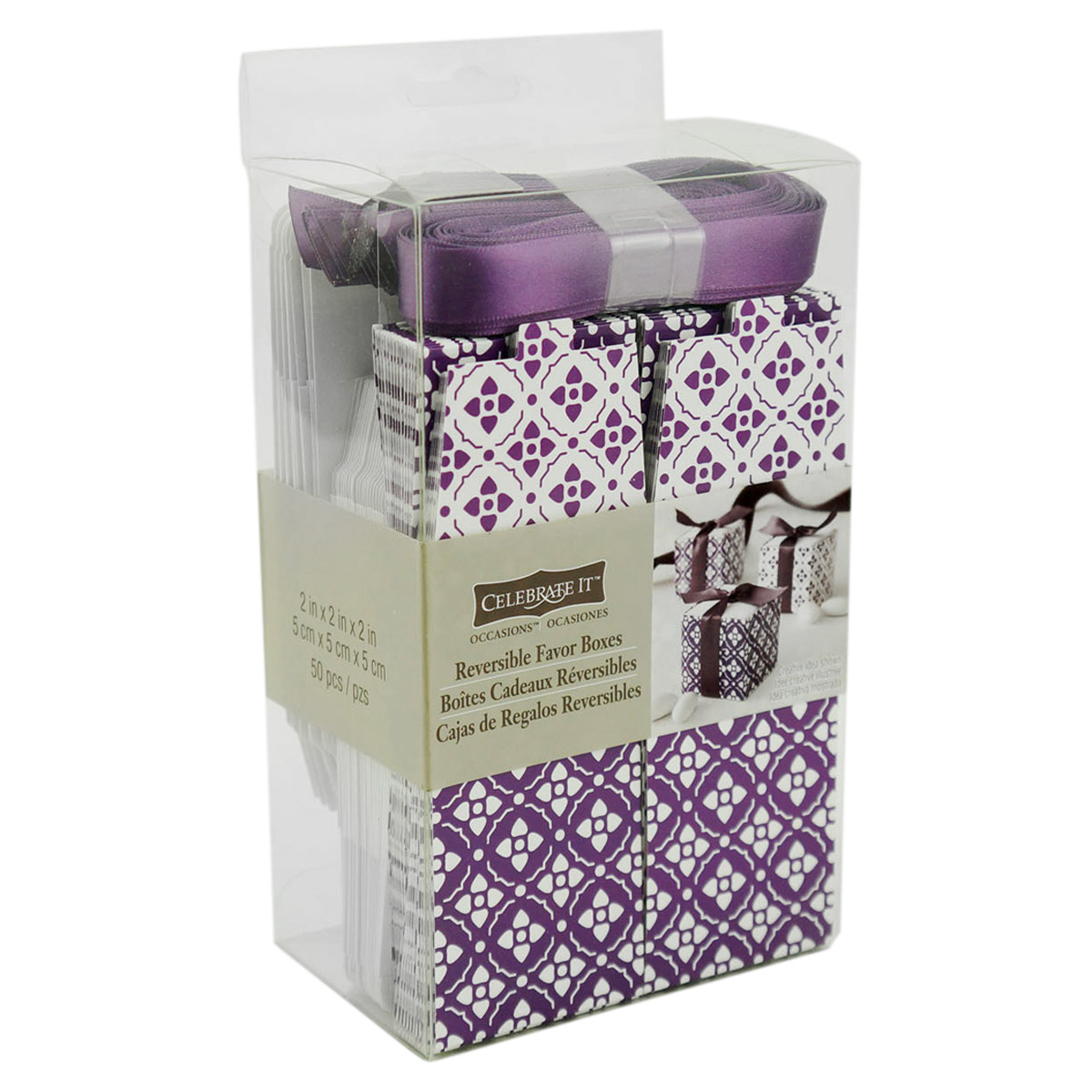 Michaels Brown Favor Boxes : Celebrate it occasions reversible favor boxes