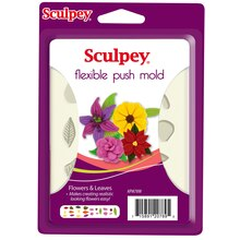Sculpey Flexible Push Mold, Flowers & Leaves