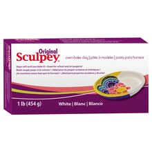 Original Sculpey Oven Bake Clay, 1 lb., White