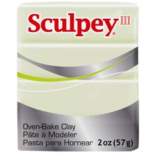 Sculpey III Oven Bake Clay, Glow in the Dark