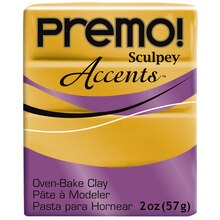 Premo! Sculpey® Accents™ Oven Bake Clay, 18k Gold