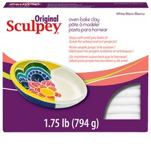 Original Sculpey Oven-Bake Clay, 1.75 lb. , White