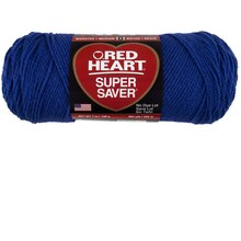 Red Heart Super Saver Yarn, Solid, Royal