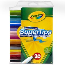 Crayola Super Tips Washable Markers 20 Count
