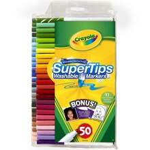Crayola Super Tips Washable Markers 50 Count