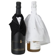 Lillian Rose Bride & Groom Bottle Covers, Lifestyle