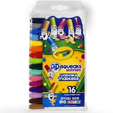Crayola Pip-Squeaks Skinnies Washable Markers, 16 Count