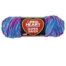 Red Heart Super Saver Yarn, Bonbon Print