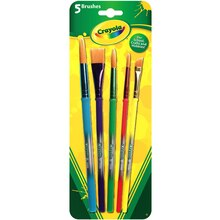 Crayola Art and Craft Brushes, 5 Count