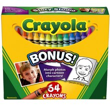 Crayola Boxed Crayons, 64 count