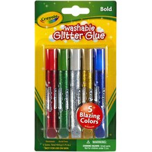 Crayola Washable Glitter Glue, 5 Count