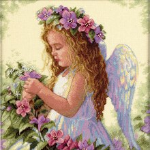 Dimensions Counted Cross Stitch Kit, Passion Flower Angel