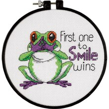 Dimensions Counted Cross Stitch Kit, First One to Smile