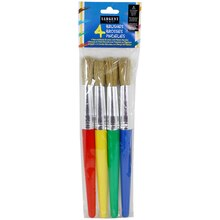 Sargent Art Jumbo Paint Brushes, 4 Count