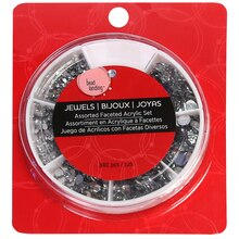 Bead Landing Assorted Faceted Acrylic Set, Clear
