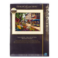 Dimensions Counted Cross Stitch Kit, Paris Market