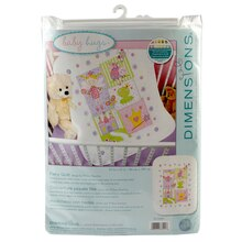 Dimensions Stamped Cross Stitch Kit, Fairy Quilt