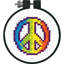Dimensions Counted Cross Stitch Kit, Rainbow Peace
