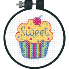 Dimensions Counted Cross Stitch Kit, Cupcake