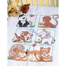 Dimensions Stamped Cross Stitch Kit, Animal Babes Quilt