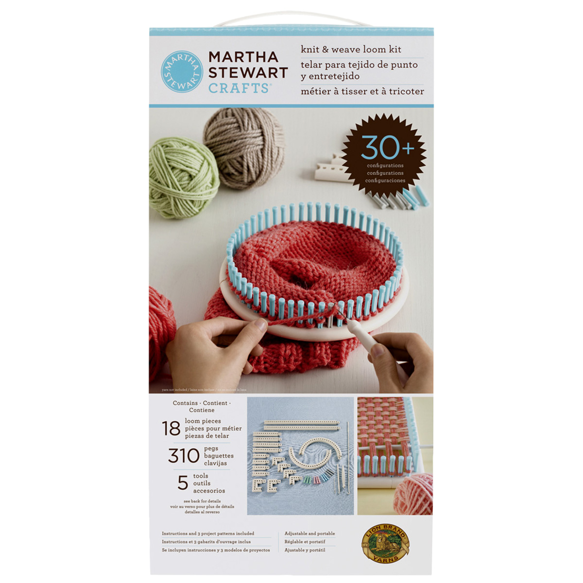 Knitting Loom Kit : Martha stewart crafts knit weave loom kit