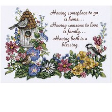 Dimensions Stamped Cross Stitch Kit, Home and Heart