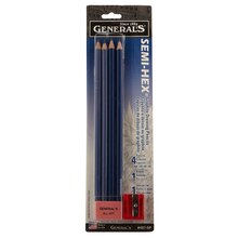 General's Semi-Hex Classic Graphite Drawing Pencil Set