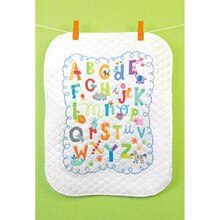 Dimensions Stamped Cross Stitch Kit, Alphabet Quilt