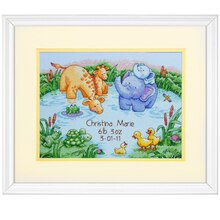 Dimensions Counted Cross Stitch Kit, Little Pond Birth Record