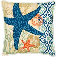 Dimensions Needlepoint Kit, Starfish Pillow