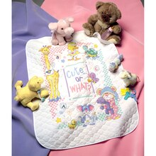Dimensions Stamped Cross Stitch Kit, Cute or What? Baby Quilt