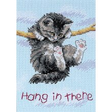 Dimensions Counted Cross Stitch Kit, Hang on Kitty