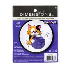 Dimensions Counted Cross Stitch Kit, Cute Kitty