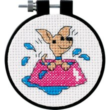 Dimensions Counted Cross Stitch Kit, Perky Puppy