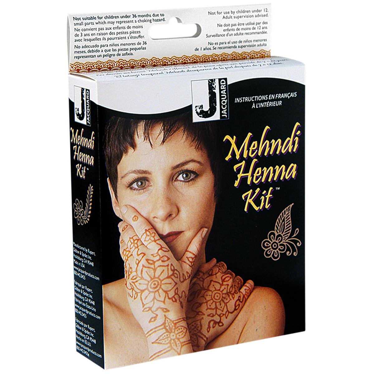 Henna Tattoo Kit : Jacquard mehndi henna kit