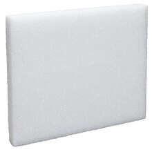 FloraCraft Styrofoam Block, White 12 in x 10 in x 1.25 in