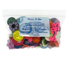 Dress It Up Craft Buttons, Brights