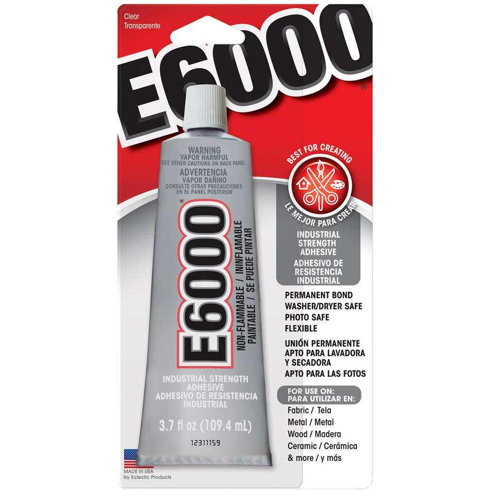 E6000 permanent craft adhesive 3 7 oz for What kind of glue to use for jewelry
